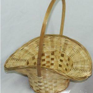 Wicker Bamboo Petal Flower Girl Basket