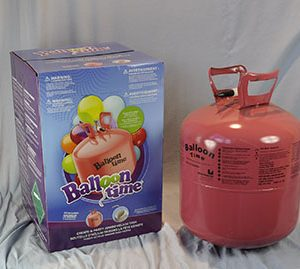 "Disposable Helium Gas with Regulator - Inflates approximately 25 x 18"" Balloons"