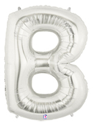 Silver 'B' Supershape Balloon