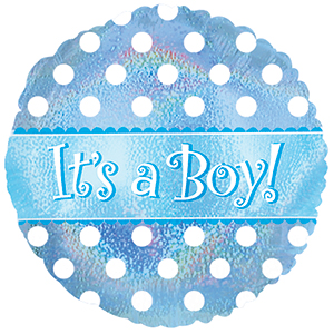 "It's a Boy Dots 9"" Air-filled Balloon"