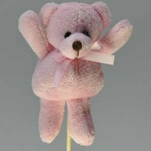 Pack of 10 - 10cm Pink Bear Pick