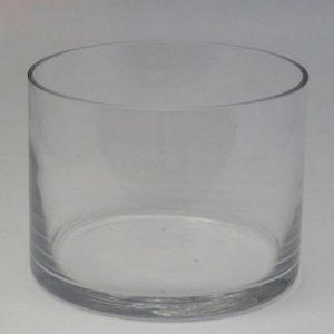 Cylinder Glass Vase - 15cm (W) x 15cm (H)