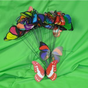 Plastic Butterfly Picks - 6cm - Pack of 50