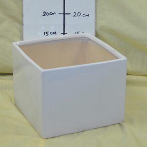 Square Cube Ceramic Vase - 18cm (W) x 14cm (H)