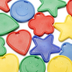 Bag of 100 Mixed Shape Plastic Balloon Weights