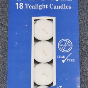 Pack of 18 Tea Light Candles (9hrs)