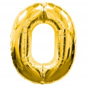 Gold #0 Supershape Balloon