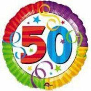 "Perfection 50th Birthday 18"" Balloon"