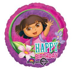 "Dora Happy Birthday 18"" Balloon"