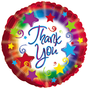 "Thank You Burst 9"" Air-filled Balloon"