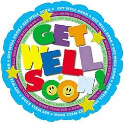 """Get Well Color Type 9"""" Air-filled Balloon"""